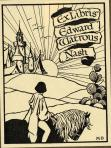 Bk Pl Edward W. Nash book plate