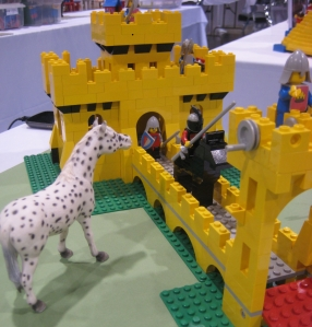 BrickFair yellow castle