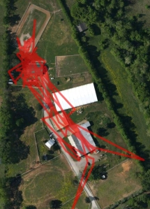 My GPS track for the day.