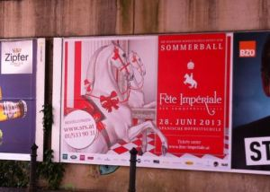 I love how Balls are advertised all over Vienna: on billboards. Photo by Ellen Broadhurst