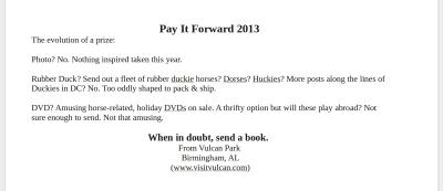 Pay It Forward letter trim