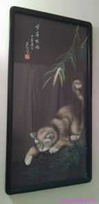 cat bathroom art work