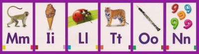 flash card Milton 2 purple