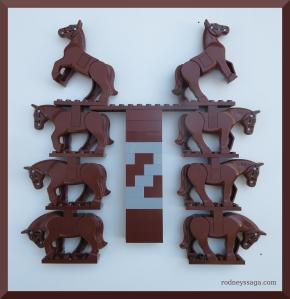 LEGO brown horse M2 b