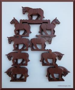 LEGO brown horse R