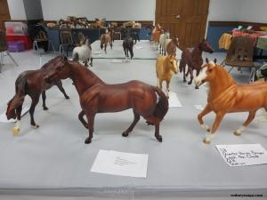 Class 116.  Quarter Horses Breyer, Table 2