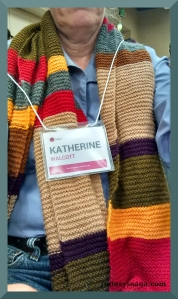 Upside: the scarf made me noticeable.Downside: everyone thought I have a knitting blog.