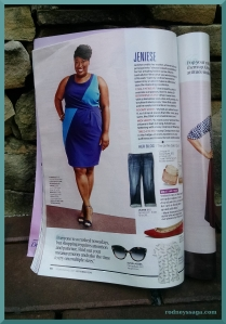 Redbook blue dress