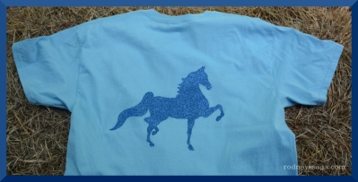The Sassy Equestrian Glitter Saddlebred Back design