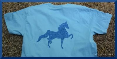 The Sassy Equestrian Glitter Saddlebred Back design