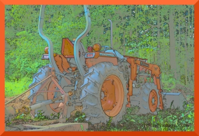 tractor color sketch