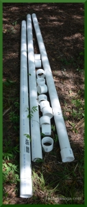 Raw materials: PVC pipe & connectors